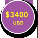 $3400 USD
