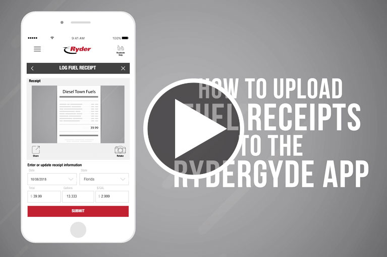 RyderGyde - How to Upload Fuel Receipts