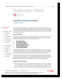 Morningstar Model Reallocation Memo