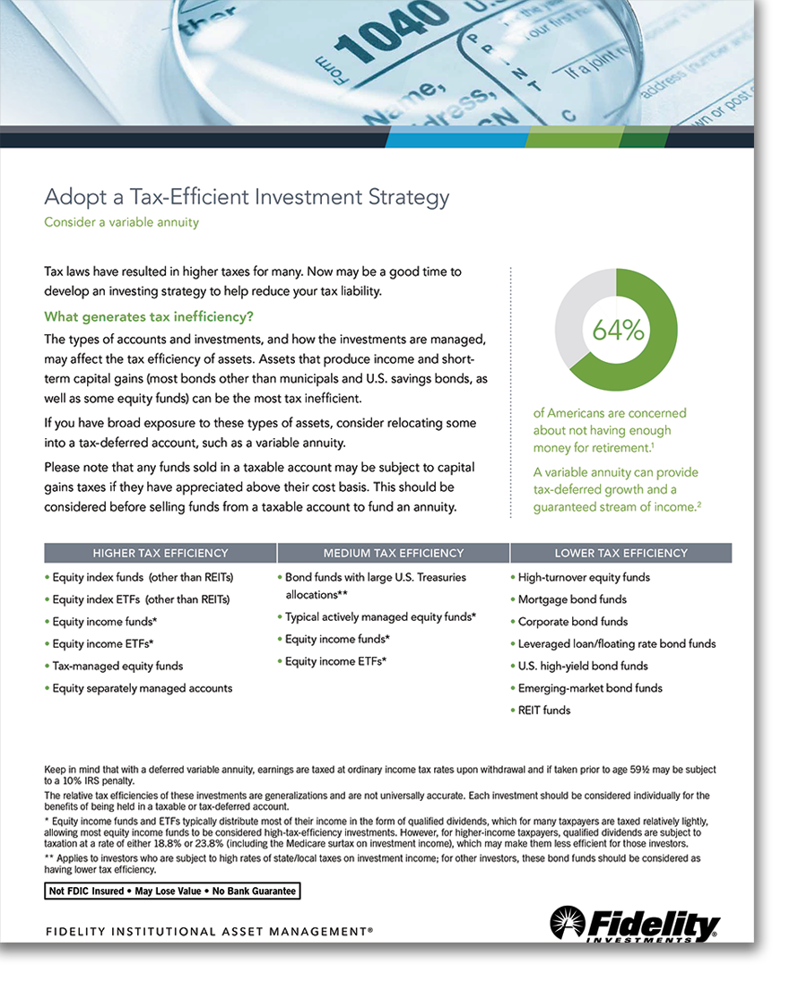 Adopt a Tax Efficient Investment Strategy