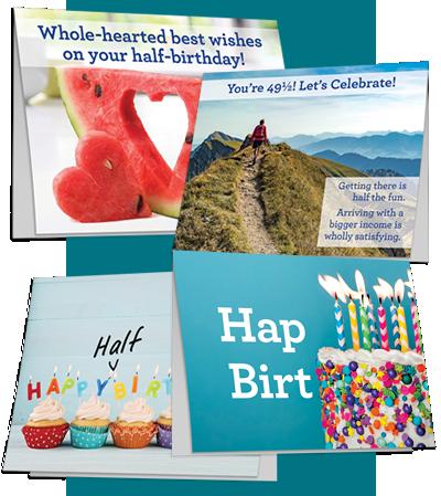 Half-birthday cards