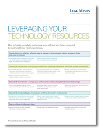 Leveraging Your Technology Resources
