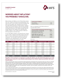 Worried About Inflation