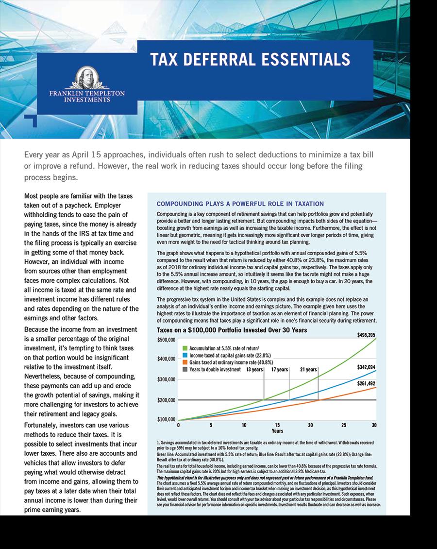 Tax Deferral Essentials