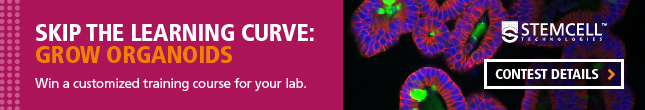 Enter to win an organoid training course for your lab.
