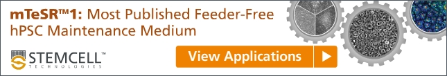 mTeSR1: Most Published Feeder-Free hPSC Maintenance Medium. Click to View Top Applications
