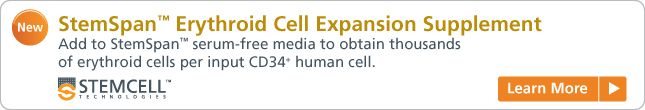 Learn more: StemSpan™ Erythroid Cell Expansion Supplement