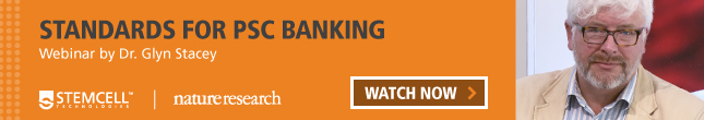 Learn about standards for PSC banking by watching Dr. Glyn Stacey's webinar from the Nature Research Round Table on hPSC Quality