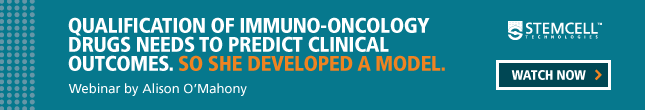 Alison O'Mahony developed a model to qualify immuno-oncology drugs in vitro. Watch the webinar.