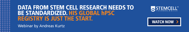 Andreas Kurtz spearheaded a global stem cell registry to make hPSC data more accessible. Watch the webinar.
