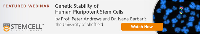 Watch Now: Webinar by Prof. Peter Andrews and Dr. Ivana Barbaric on Genetic Stability of Human Pluripotent Stem Cells