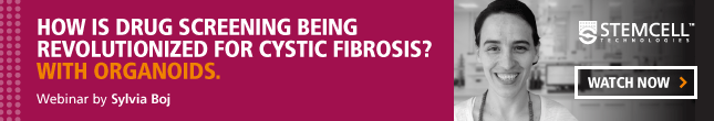 How is drug screening being revolutionized for cystic fibrosis? With organoids. Watch Sylvia Boj's webinar.