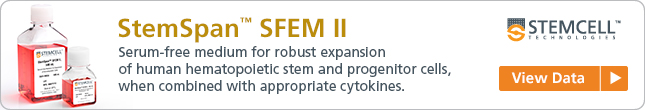 View Data: StemSpan™ SFEM II Serum-Free Medium