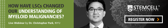 How have LSCs changed our understanding of myeloid malignancies? Live webinar by Dr. Christopher Park, NYU School of Medicine