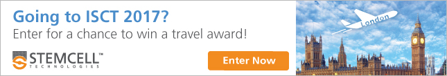 Enter now to win one of two travel awards for ISCT 2017!
