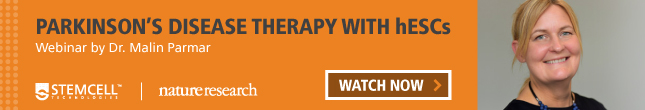 Learn about Parkinson's Disease therapy with hESCs by watching Dr. Malin Parmar's webinar from the Nature Research Round Table on hPSC Quality