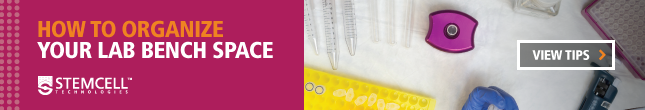 View tips on how to organize your lab bench space.