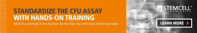STEMCELL Technologies. Standardize the CFU Assay with Hands-On Training. Learn More.