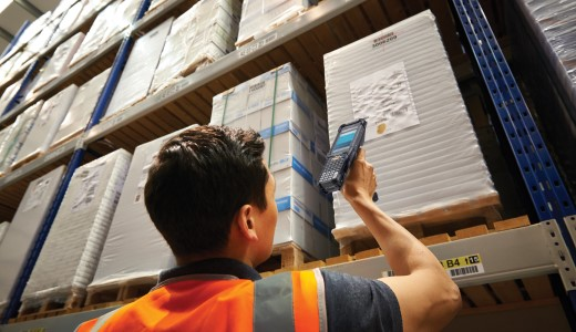 android mobile computer scanning in warehouse