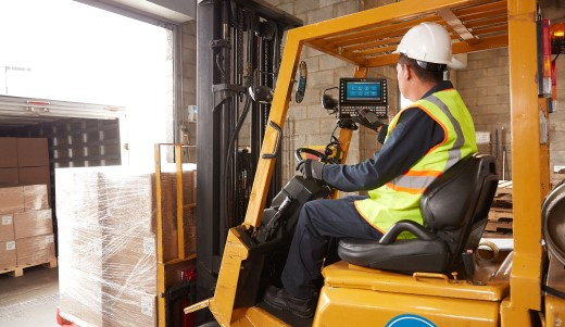 vehicle mounted mobile computer in a forklift
