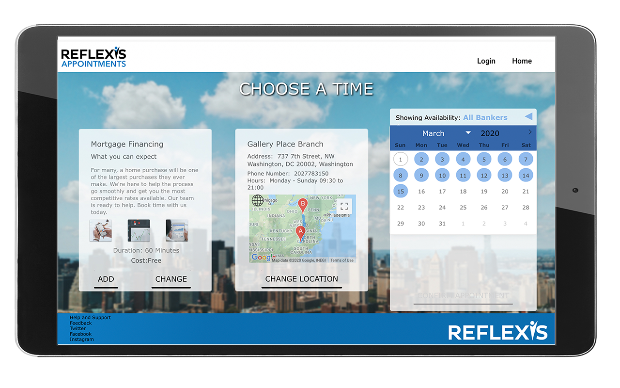 Reflexis Appointment Screen