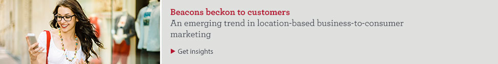Beacons beckon to customers. An emerging trend in trend in location-based business-to-consumer marketing. Get insights