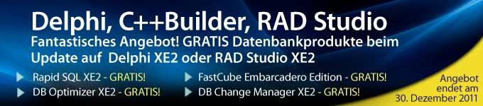 Fantastisches Angebot! GRATIS Datenbankprodukte mit der Aktualisierung auf  Delphi XE2 oder RAD Studio XE2