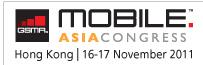 Mobile Asia Congress - Hong Kong   16-17 November 2011