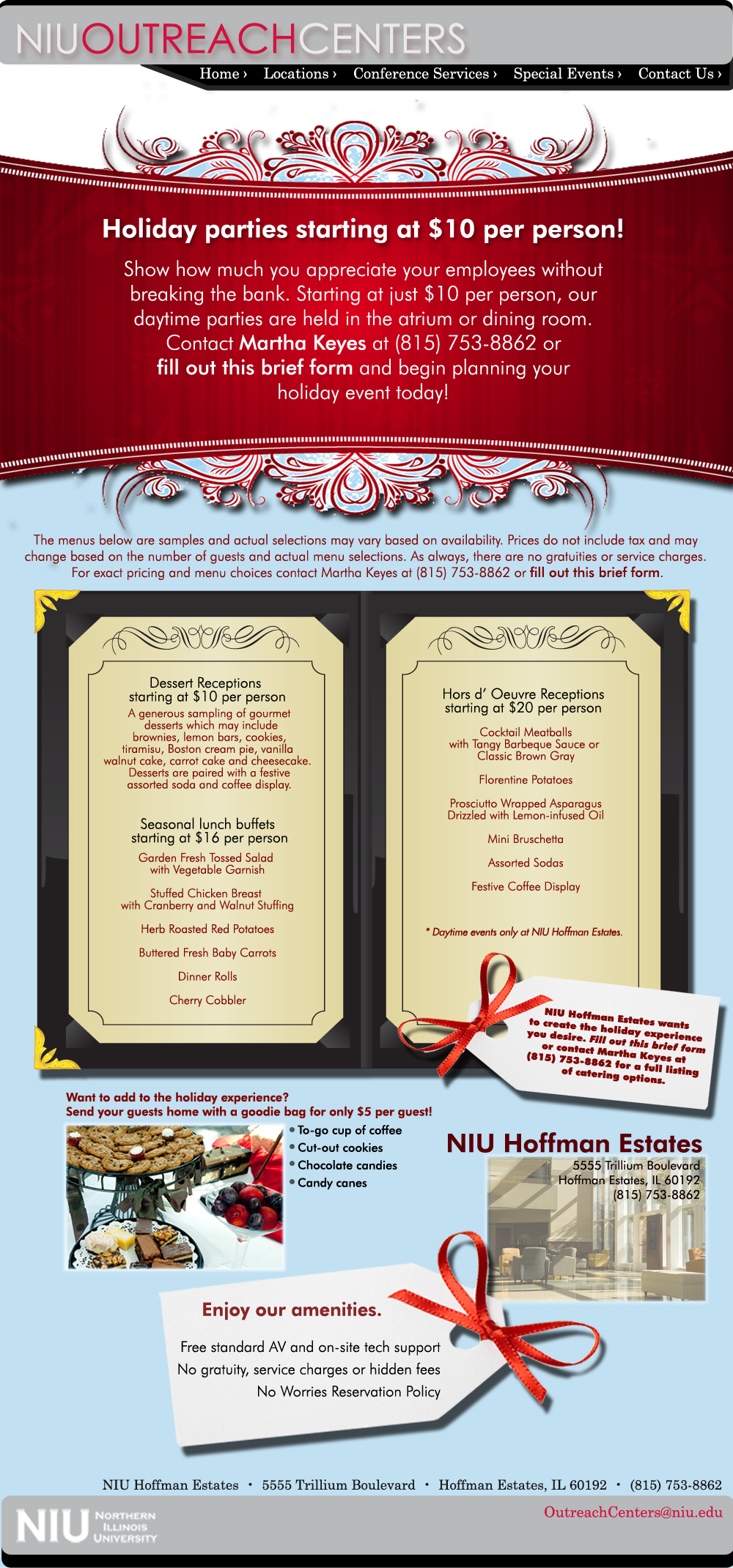 Host your Holiday Party at NIU Hoffman Estates!