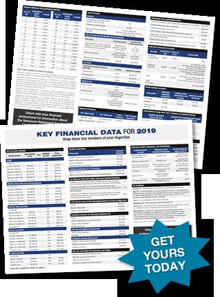 2019 Key Financial Data Card, Professional Edition