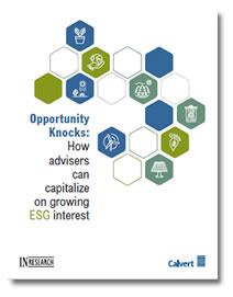 Opportunity Knocks: How advisers can capitalize on growing ESG interest