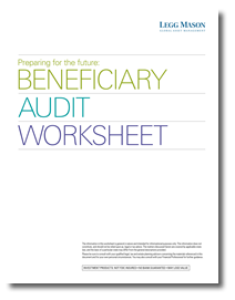 Beneficiary Audit Worksheet