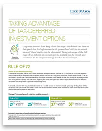 Taking Advantage of Tax-Deferred Investment Options
