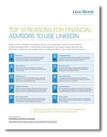 Top 10 Reasons for Financial Advisors to Use LinkedIn