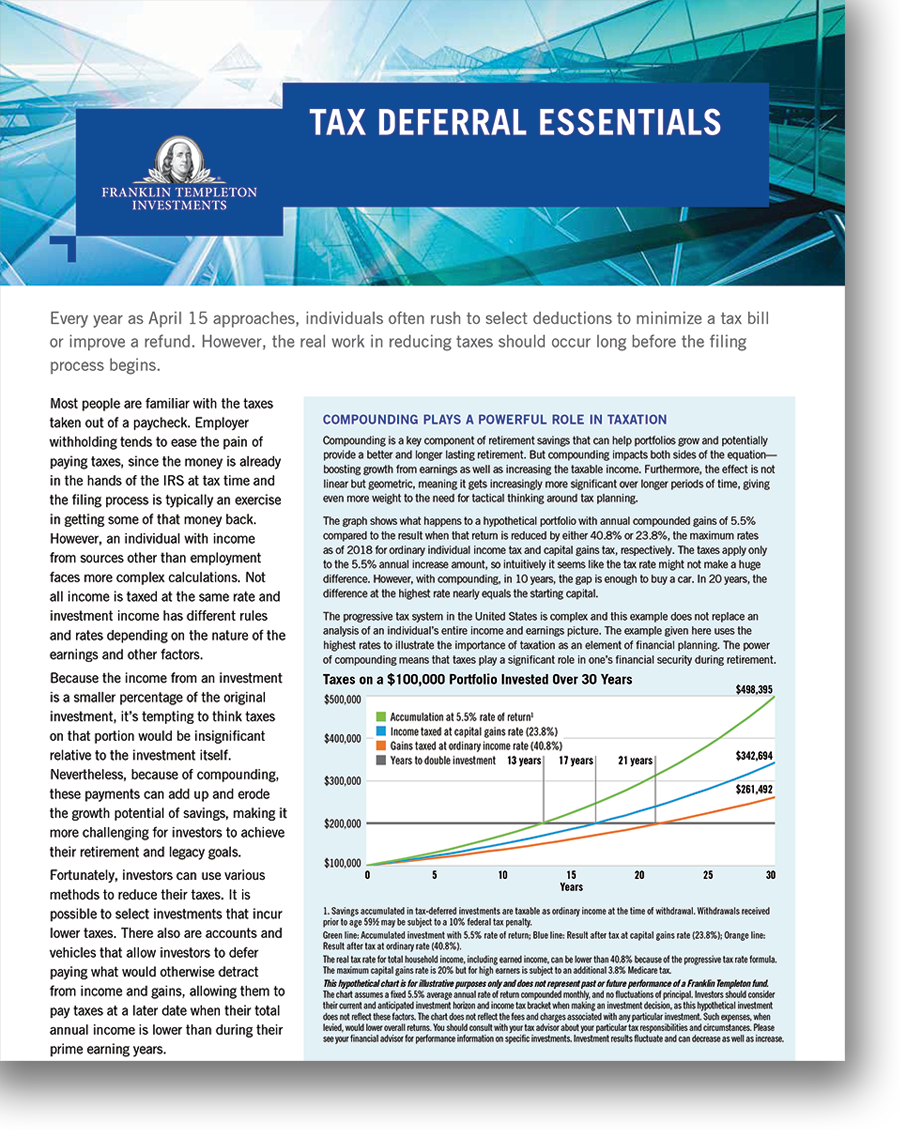 Tax Deferral Essentials